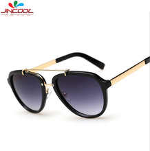 JinCool Fashion Metal Sunglass Men 2016 Vintage Sunglasses Women Brand Designer Steampunk Sun Glasses UV400 Oculos de sol S456