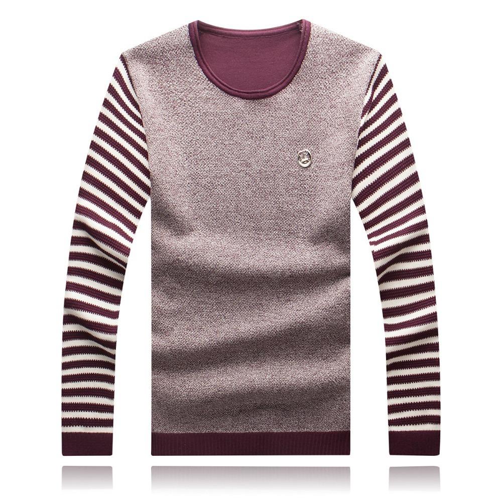 Весна осень мужские пуловеры свитера хлопок blusas masculinas дна рубашка для мужчины m-4xl 5xl