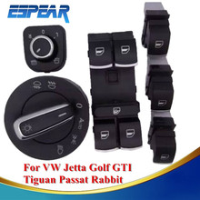 Car Headlight Switch + Side Mirror Heat Master Window VW Golf Jetta MK5 MK6 GTI Tiguan Passat B6 CC Q25 - Bengear 3C Electronic Store store