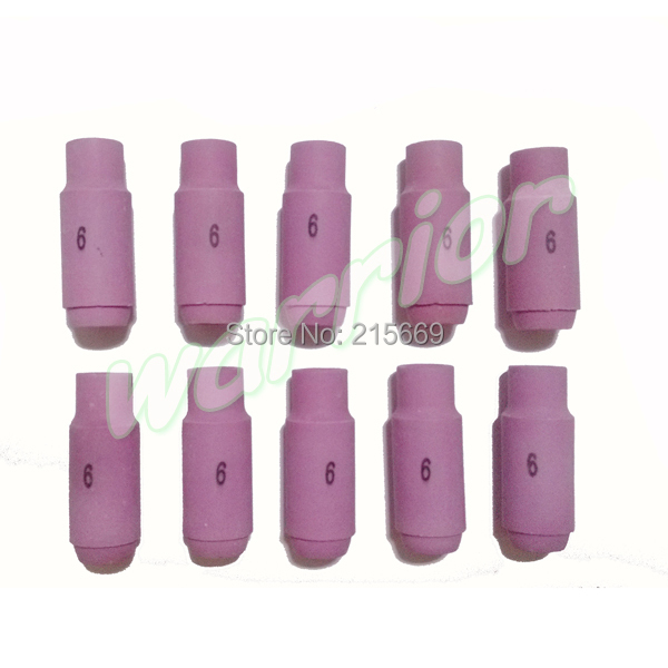 20pcs 6# 10N48 Ceramic Nozzles for Tig Torch WP17 WP18 WP26 10mm 3/8 inches(China (Mainland))