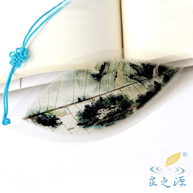 Nervure bookmark mdash . landscape painting rustic collection gift(China (Mainland))