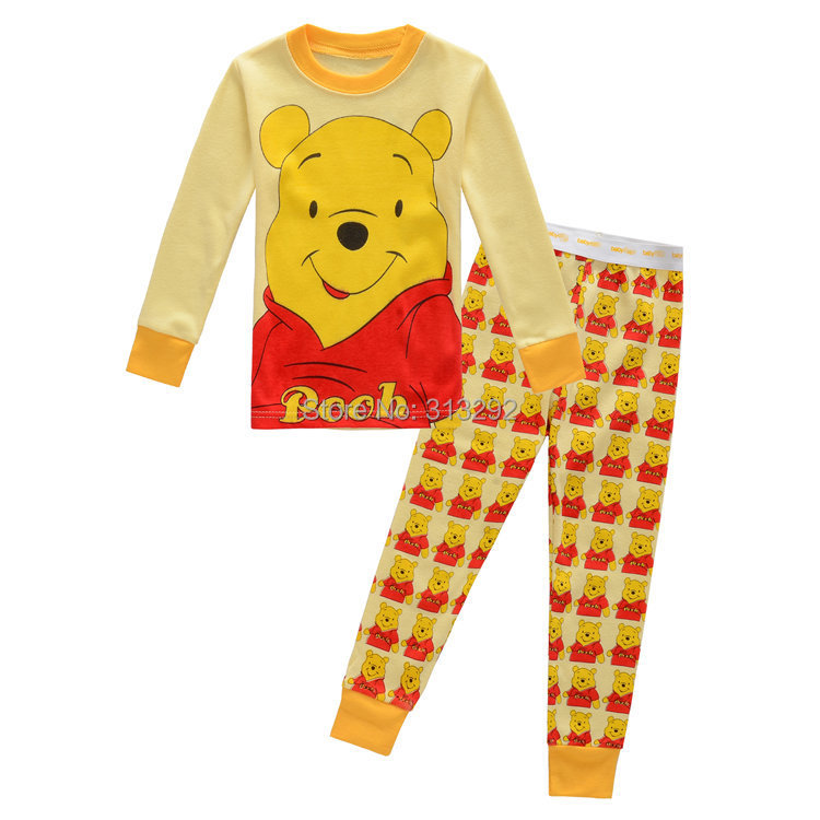 P612, Winnie, Baby/Children pajamas, 100% Cotton long sleeve sleepwear/clothing sets for 2-7 year.<br><br>Aliexpress