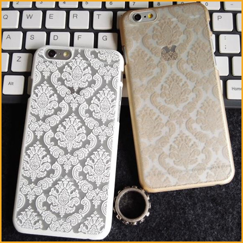 New Arrival Luxury Vintage Palce Lace Flower Phone Cases For iphone 7 7 Plus Top Quality Cell Phones Cases XY4200(China (Mainland))