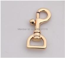 20mm(3/4'' inside) gold swivel clasp lobster claws swivel hooks handbag hardware magnet snap hook(China (Mainland))