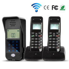 Brand New 2,4G Wireless Audio Türsprechanlage Türklingel mit 2 Hörer Innengerät Code Tastatur Entsperren Außenglocke Freies verschiffen(China (Mainland))