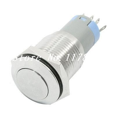 Industrial 16mm AC 250V 3A Momentary Metal Push Button Switch 1NO 1NC(China (Mainland))