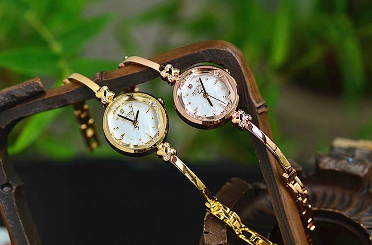 Топ женские Часы Юлий Япония Кварцевых Часов Часы Браслет Резки Оболочки Горный Хрусталь Именинница Рождественский Подарок Коробка 878