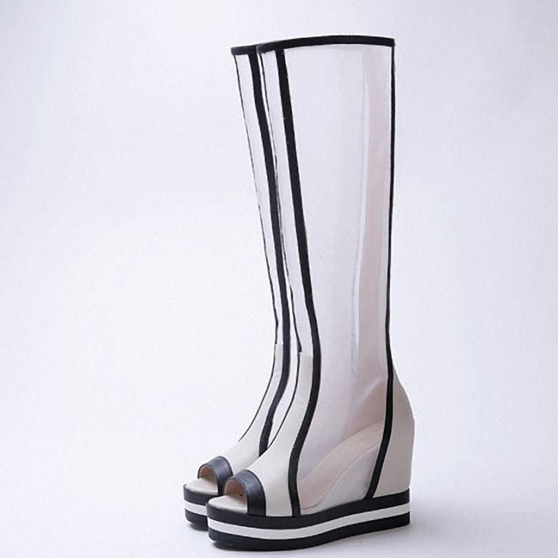 ENMAYER knee high boots high heels shoes summer boots sexy cue-outs hollow fashion long motorcycle boots for women fashion boots<br><br>Aliexpress