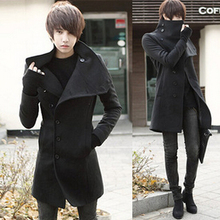 2014 New overcoat men trench coat Solid Thick X-long casual jacket long coat men Hoodies & Sweatshirts fashion Hoodie MW007(China (Mainland))