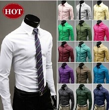 2015 Spring Mens Shirt Long Sleeve Slim Fit Clothing Man Dress Shirts Vestidos Camisa Social Masculina Chemise Homme(China (Mainland))