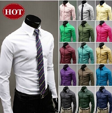 Spring Mens Shirt Long Sleeve Brand Clothing Man Dress Shirts Fashion Camisa Slim New 2016 Social Fit Masculina Chemise Homme(China (Mainland))