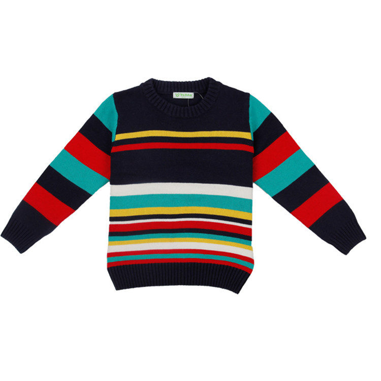 2015 spring and autumn kids new styles clothes little boys striped sweaters fashion long sleeve sweater coat M0029(China (Mainland))
