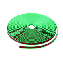 Green Vehicle Wheel Rim Protector 8M Guard Line Rubber Moulding Flexible Tuning - Road Herald Auto Technology Co.,Ltd store