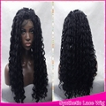 High Quality Cheap Kylie Cosplay Wigs Synthetic Lace Front Wig Natural Kinky Curly With Baby Hair