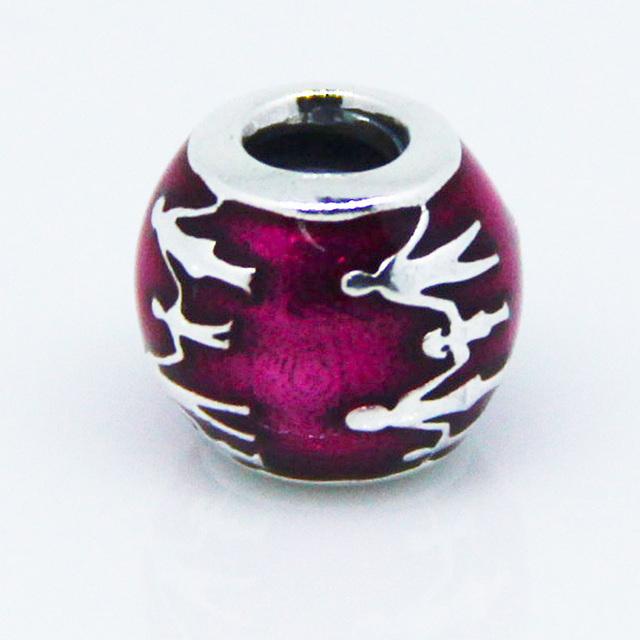 Подходит пандоры подвески браслеты подлинная стерлингового серебра 925 бусины мяч любовь вместе семья шарм женщины DIY ювелирных изделий бесплатная доставка