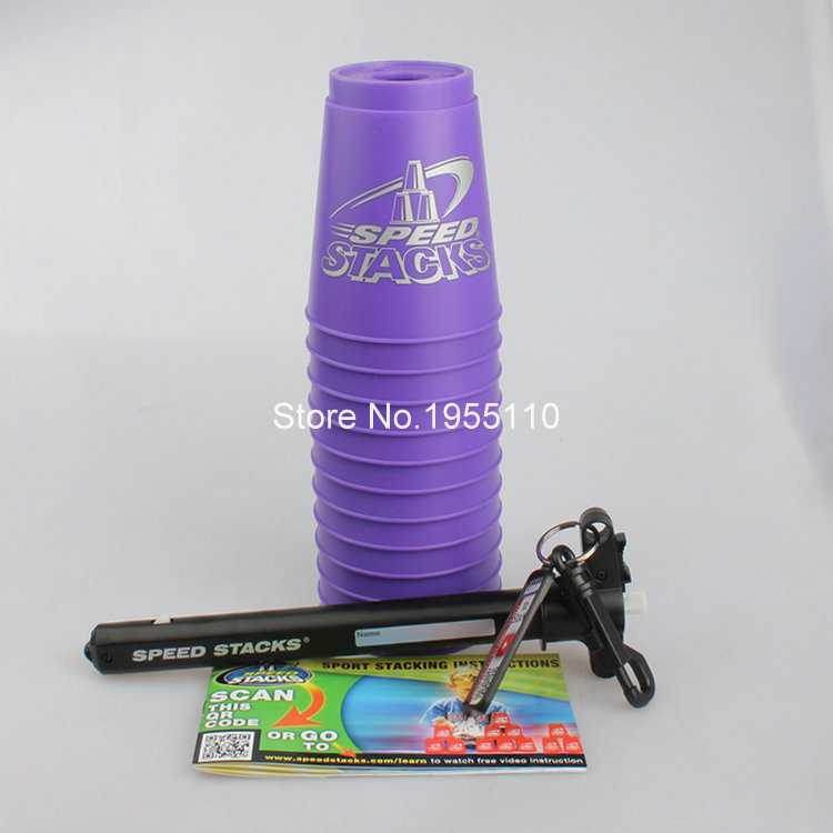 Flying Speed Violet color Stacking cups Christmas Speed Gift Stacks Rapid Luminous Cups With Handle