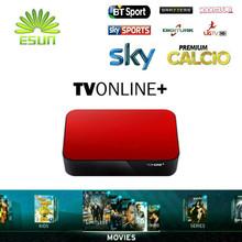 2016 Nueva AVOV TVonline cuenta IPTV Árabe IPTV Caja con 1 Año REY Europa España Italia Suecia Polonia VIASAT Albania tv de pago