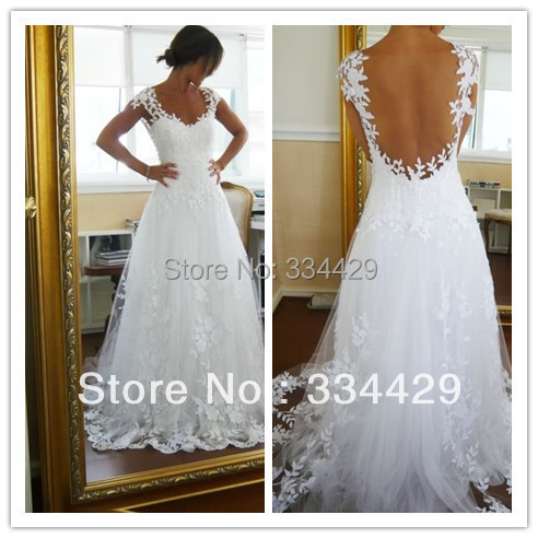 store product white lace wedding dress neck