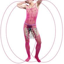 Functional Exotic Apparel Men' Sexy  Body Stocking SSocks&Hosiery See-thru Lingerie Pantyhose Underwear Bodysuit  For Men(China (Mainland))
