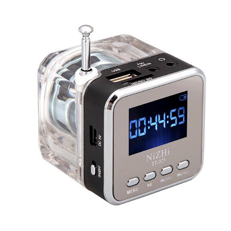 Digital Portable Mini Speaker Music MP3/4 Player Micro SD/TF USB Disk Speaker FM Radio LCD Display(China (Mainland))