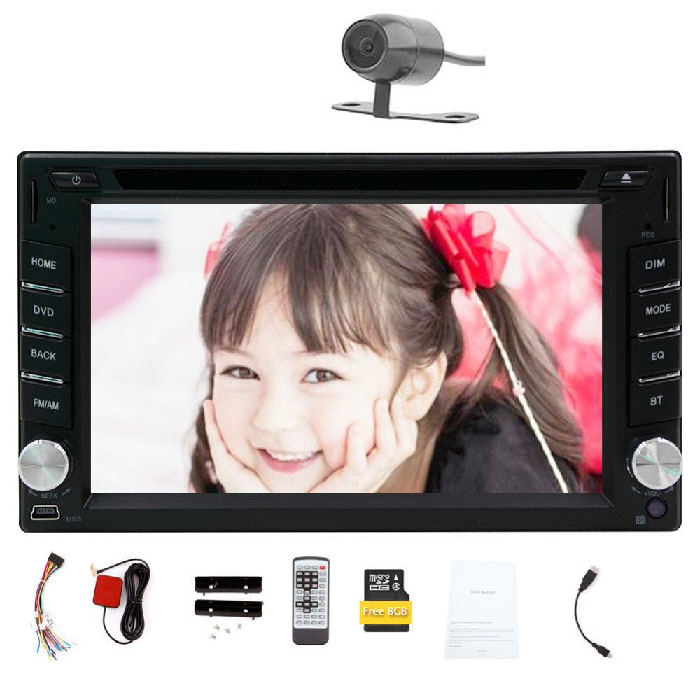 New model! 6.2-inch 2 DIN GPS voice Navigation for Universal Car SD/USB Support Touch Screen FM Transmitter Subwoofer Output Ste(China (Mainland))