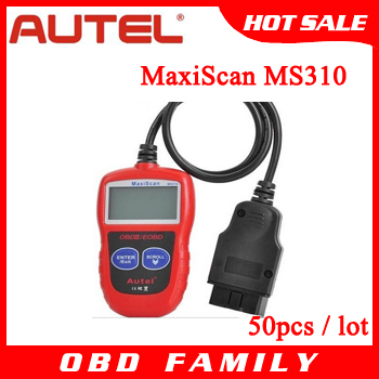 50pcs/lot DHL Free Autel diagnostic scanner tool Autel MaxiScan MS310 CAN BUS OBDII Code Reader autel ms310 Car Scanner Reader(China (Mainland))