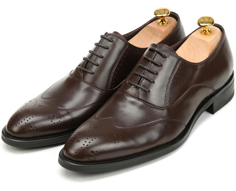 2015 Italian luxury designer men oxford shoes genuine cowhide leather black brown carved design basic flats for business #568<br><br>Aliexpress