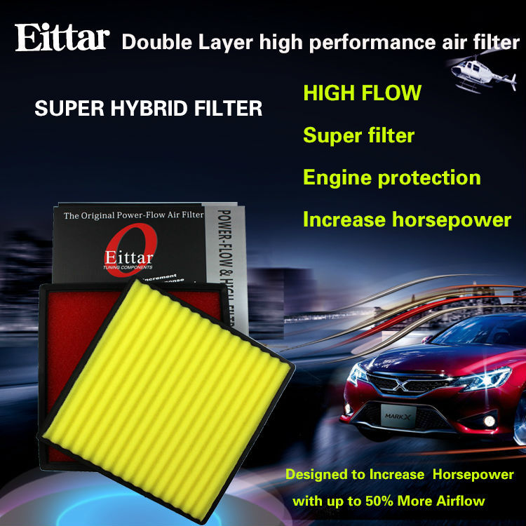 Double layer high flow air filter fit for VAUXHALL ZAFIRA TOURER 1.8L 2013-2013(China (Mainland))