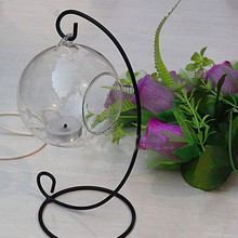 2016 Modern Crystal Glass Hanging Candle Lantern Romantic Wedding Party Candlestick 6CM Free shipping(China (Mainland))