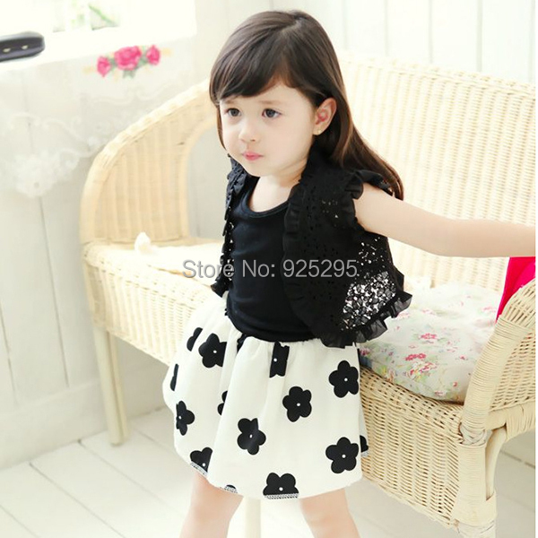 LOWEST PRICE Toddler Kids Girl 1pc Pleated Short Sleeve Floral Pattern Dress Clothes 1-6Y(China (Mainland))