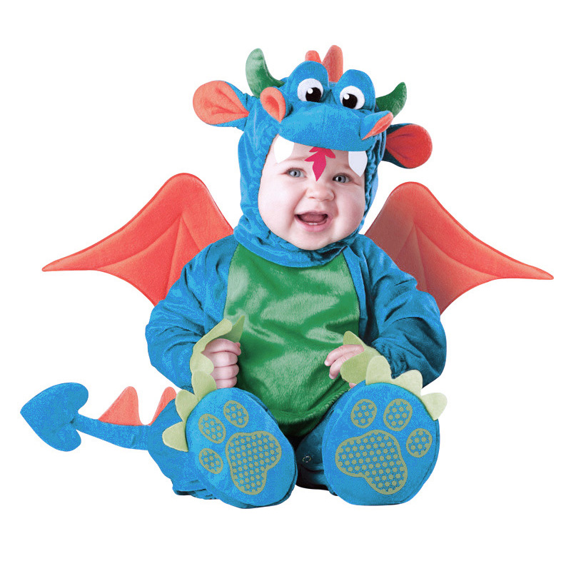 2016 New Baby Boys Triceratops Costume Infant Baby Dinosaur Animal Cosplay Newborn Toddlers Clothest(China (Mainland))