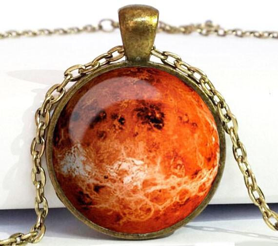 Free shipping Venus Pendant Venus Necklace Venus Jewelry galaxy universe space planet(China (Mainland))