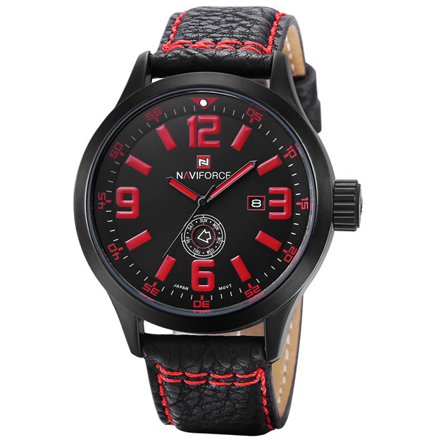New Luxury Fashion Business Men Watch Leather Strap Army Quartz Watch Men Sport Watches(China (Mainland))