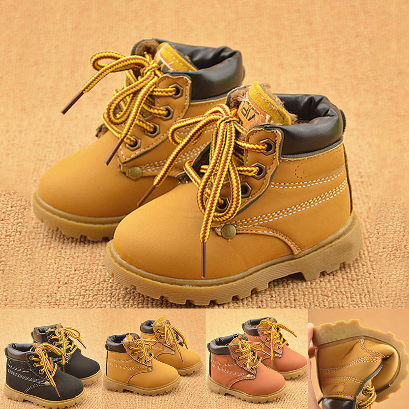 2016 Fashion Winter Baby Boots Boys And Girls Calzado Botas Ninas Infant Girl Winter Leather Boots Baby Warm Snow Boots(China (Mainland))