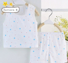 New arrivals Baby sleeping suit Sleepwear robes Summer cool Print Natural cotton 2 colors(China (Mainland))