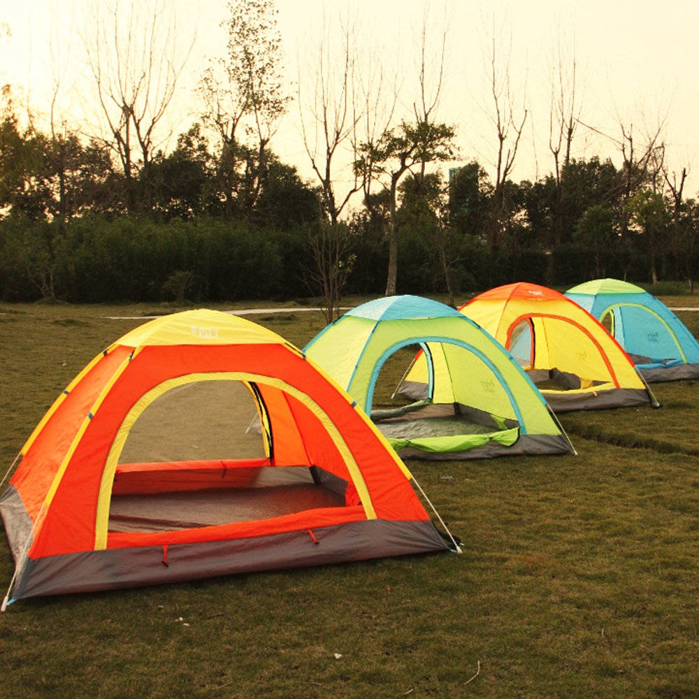 NEW 2 Seconds Speed Open Outdoor CampingTent Full Automatic Tent Double People Folding Tent One Bedroom Quick Opening Tents(China (Mainland))