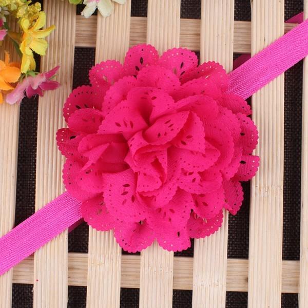 Упругом диапазон волос младенца головные уборы мода новое рождественские подарки повязки девушки младенческой с бантом цветок аксессуары для волос