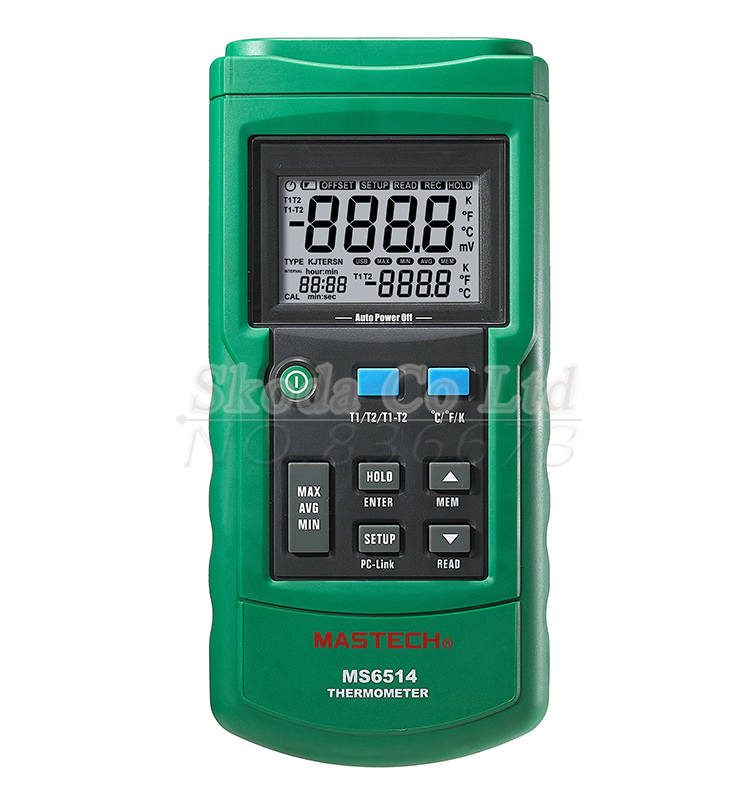 Free shipping MASTECH MS6514 single channel Temperature acquisition instrument thermocouple thermometer self-calibration tester(China (Mainland))