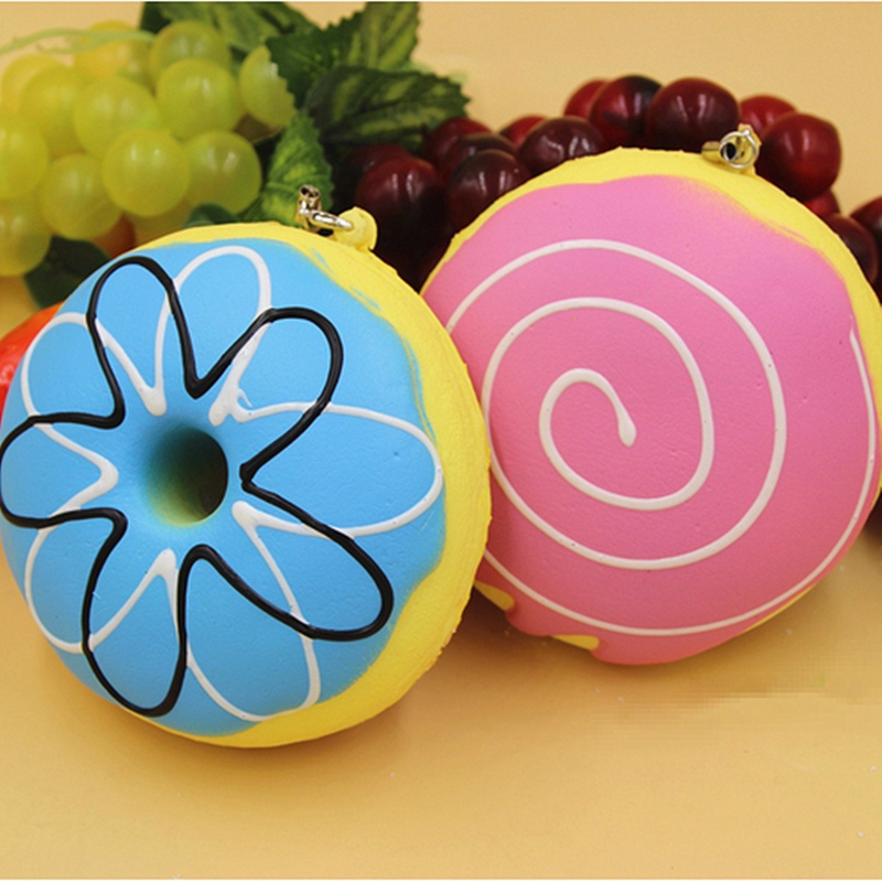 Portable 10cm Charming Mobile Phone Straps PU Foam Donut Jumbo Chiave Cute Pane Strap Soft Ciambella Cellulare Chain Toy Gift(China (Mainland))