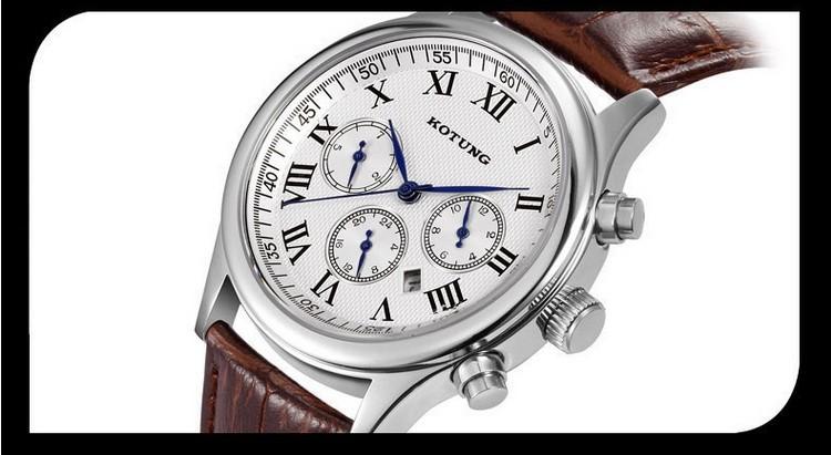 New Brand Men Imported Quartz Dress Watches 100% Real Leather Businessmen Calendar Clock Sapphire Analog Timepiece Reloj NW1185<br><br>Aliexpress