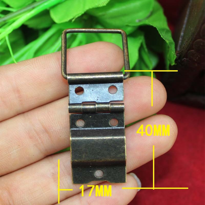 17*40MM 50pcs vintage brass Trumpet hinge cabinet packaging wooden jewelry box hinges antique bronze hinge wholesale(China (Mainland))