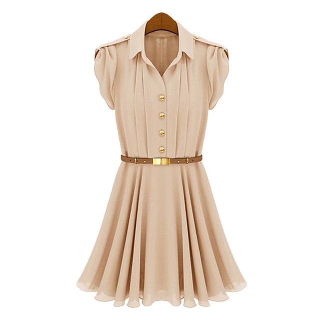 Summer women's 2013 fashion vintage royal short-sleeve chiffon one-piece dress