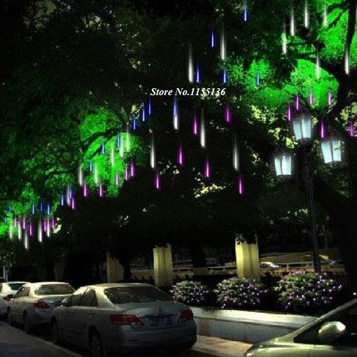 Outdoor Hanging Tree Lights: 30/50CM LED Meteor Light Led Lamp Lights Flashing