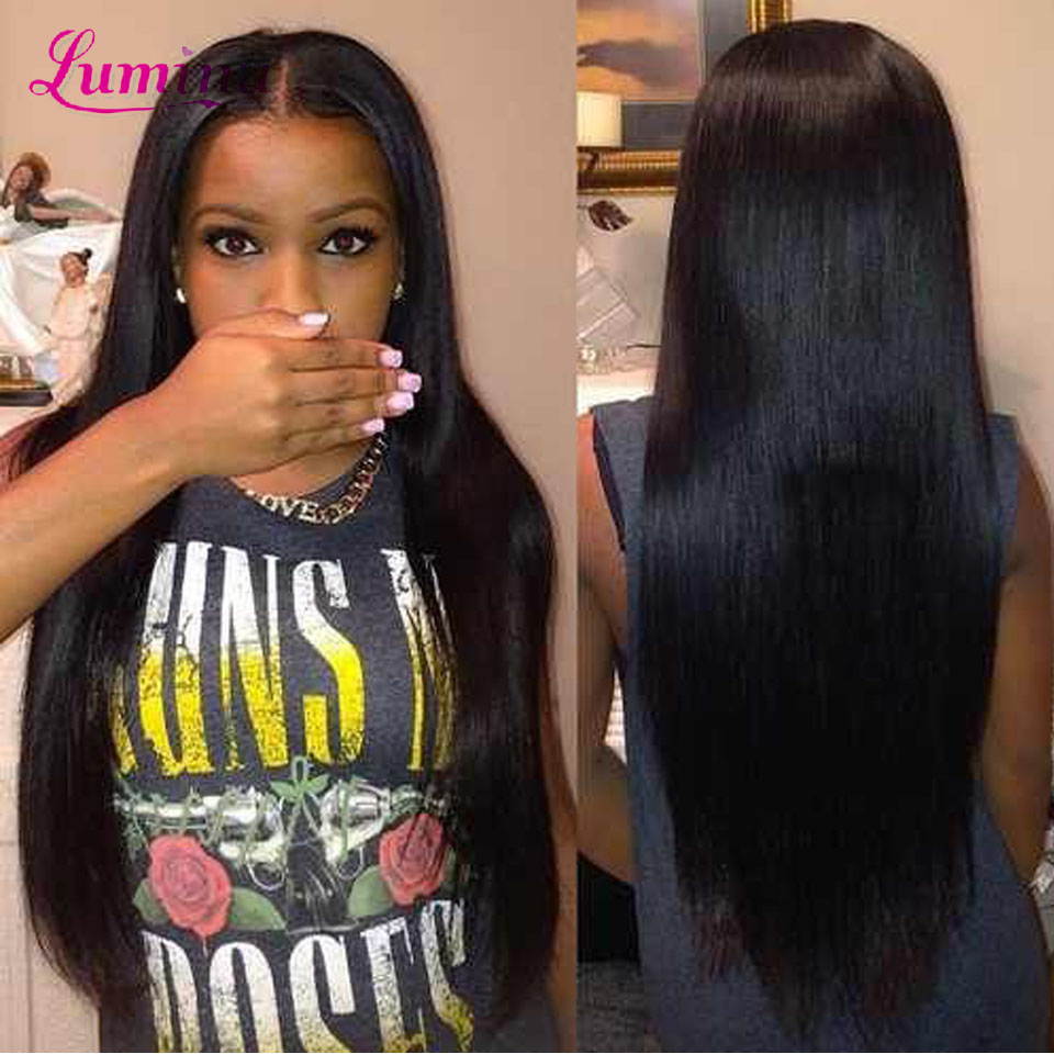 Peruvian Straight Virgin Hair With Ear To Ear Lace Frontal Closure With 3/4 Bundles Rosa Human Hair Products With Lace Closures(China (Mainland))