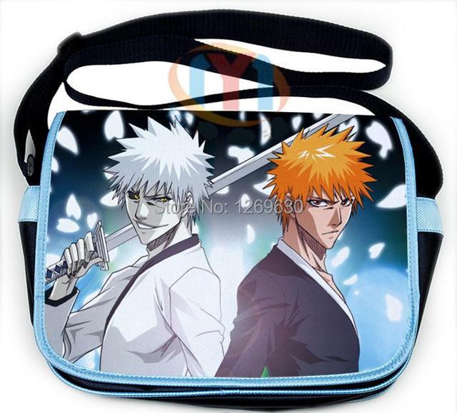 BLEACH Anime shoulder Bag Kurosaki ichigo cartoon Book Schoolbag Messenger New(China (Mainland))