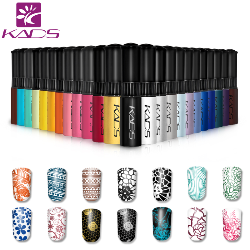 KADS Stamp polish 1 Bottle/LOT Nail Polish & stamp polish nail art pen 31 colors Optional 10ml More engaging 4 Seasons(China (Mainland))