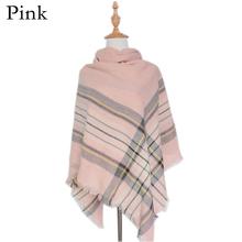 1Pc New Fashion Women Lady Oversized Tartan Plaid Blanket Scarf Wrap Shawl Cozy Checked Pashmina(China (Mainland))