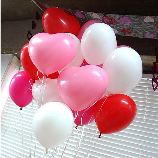 50pcs lot 10inch durable colorful Novetly Wedding Birthday Party Decoration Balloons Love Heart Shape Latex Balloons