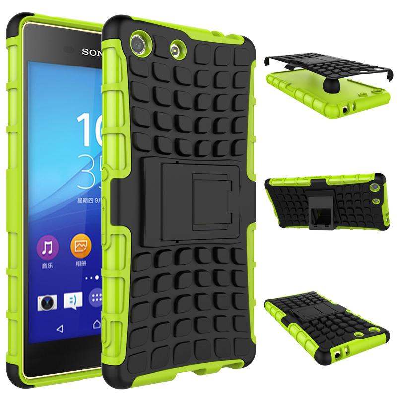 Sony M5 Heavy Duty Armor Fundas Shockproof Hybrid Stand Hard Rugged Rubber Cover Xperia E5603 Coque  -  Shenzhen RYG group co., LTD store