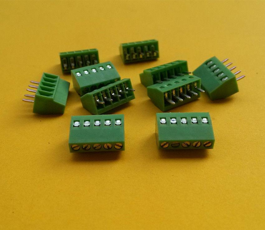 10pcs 5 Poles/5 Pin 2.54mm/0.1 PCB Universal Screw Terminal Block Connector<br><br>Aliexpress